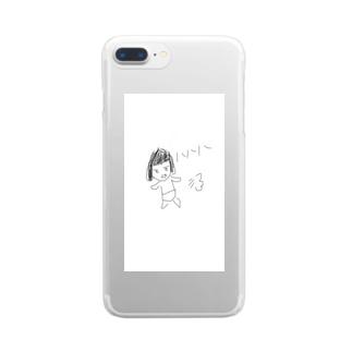 おかパン ダッシュ!! Clear smartphone cases
