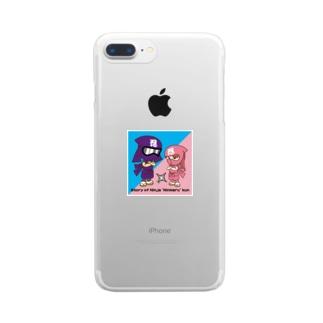 忍者ニンマルくん Clear smartphone cases