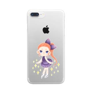 Skate Girl Clear smartphone cases