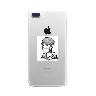 イケメンじじい Clear smartphone cases