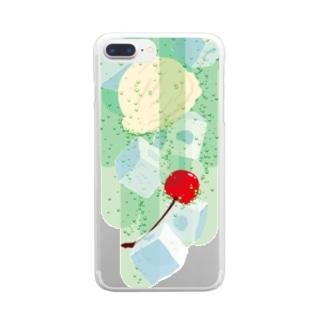フォーリングクリームソーダ Clear smartphone cases