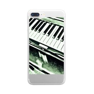ピアノの音色 クリアスマートフォンケース