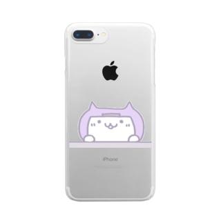 伊賀忍者ニャン太郎ひょっこり Clear smartphone cases