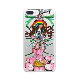 チャクラちゃん Clear smartphone cases