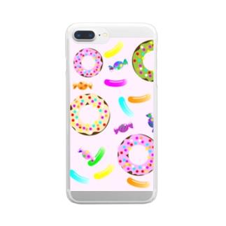 スイーツ2 Clear smartphone cases