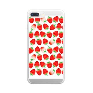 いちごちゃんず Clear smartphone cases