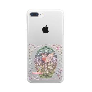 「花籠」Series * LoveBirds♡pink Clear smartphone cases