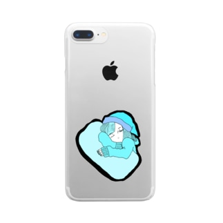 眠い Clear smartphone cases