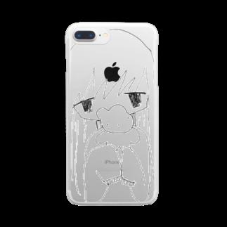 うさぎとしろくまのうさぎ Clear smartphone cases