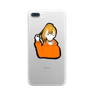 ポニテ Clear smartphone cases