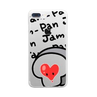 ジャムパンちゃん Clear smartphone cases