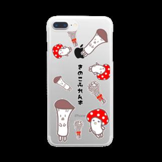 BiB handmadeshopのきのこふれんず Clear smartphone cases
