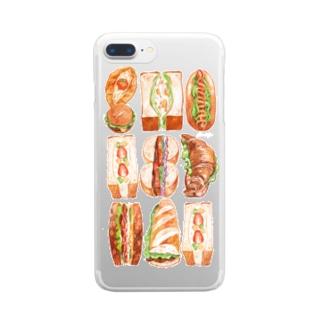 サンドイッチ クリアスマートフォンケース