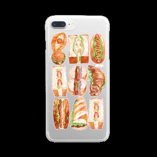 omisoのサンドイッチ クリアスマートフォンケース