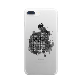 Scull squares Clear smartphone cases