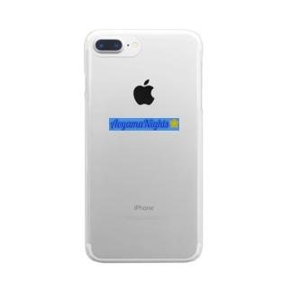 青山Nightsサイキックパワーシリーズ Clear smartphone cases