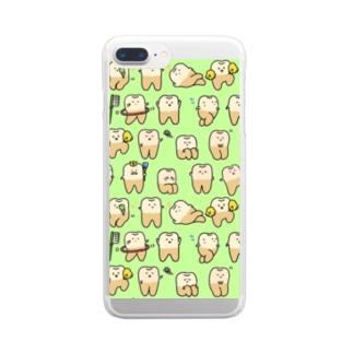 トゥースンたっぷり Clear smartphone cases