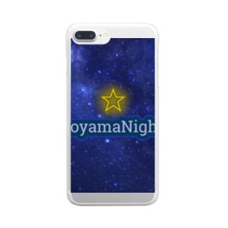 青山Nights®ビジネスロゴ Clear smartphone cases
