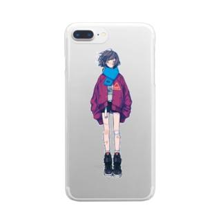 本当の私を見つけないで Clear smartphone cases
