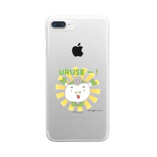 やさいぬしょっぷ SUZURI店のゆるドクターネギー【うるせー!】 Clear smartphone cases