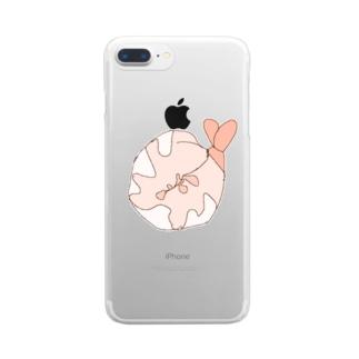 おえびえびえび Clear smartphone cases