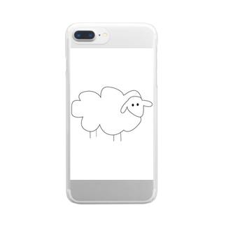 white sheep クリアスマートフォンケース