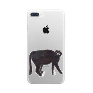 くろねこさん Clear smartphone cases