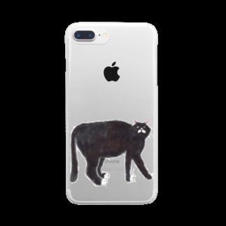 おにくのくろねこさん Clear smartphone cases