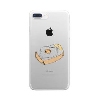 おやすみトースト Clear smartphone cases