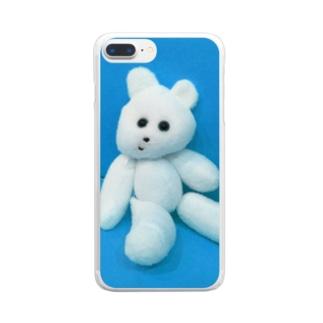 熊吉(くまきち) Clear smartphone cases