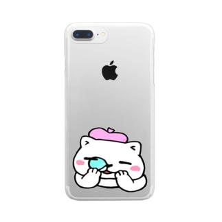 べれにゃん Clear smartphone cases