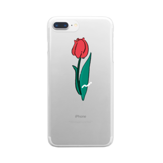 caroe'のちゅ〜りっぷ Clear smartphone cases