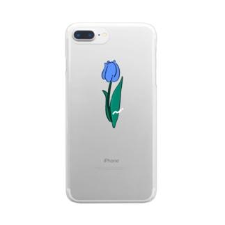 ちゅ〜りっぷ Clear smartphone cases