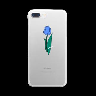 ぱんだがすきのちゅ〜りっぷ Clear smartphone cases