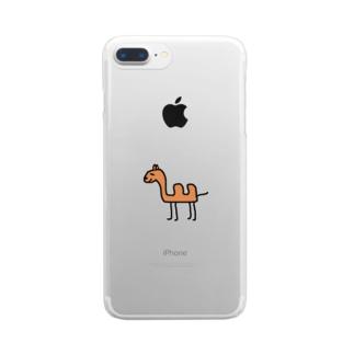世界の動物「ラクダ」 Clear smartphone cases