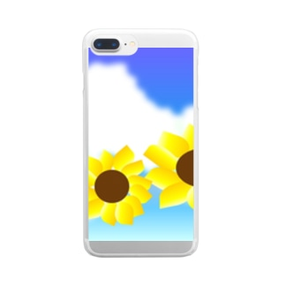 sunflower Clear smartphone cases