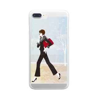 「ケイタイ」 Clear smartphone cases