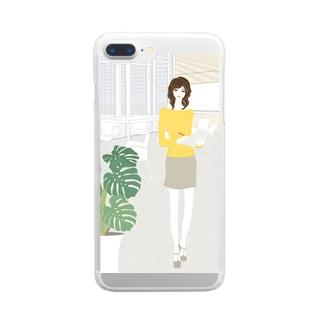 「会議室」 Clear smartphone cases