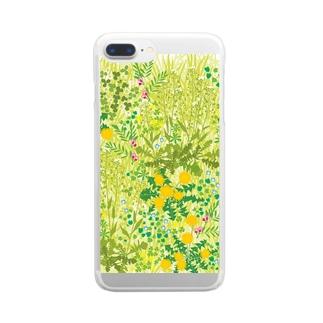 春の野 Clear smartphone cases