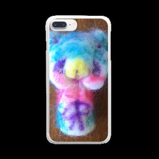 シェイモのやさしいオオカミさん羊毛フェルトマスコット Clear smartphone cases