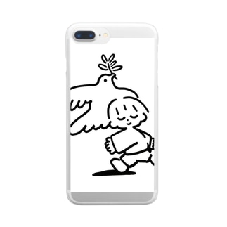 あけたらしろめ「love you」 Clear smartphone cases