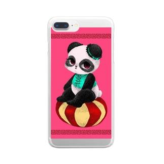 チャイニーズパンダ★みゅんみゅん Clear smartphone cases