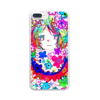 ぐちゃぐちゃ Clear smartphone cases