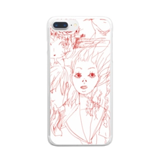 かぜにふかれ女子 Clear smartphone cases