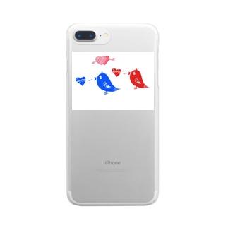 ことりのさえずり Clear smartphone cases