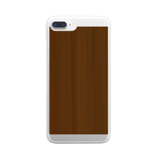 Wooden 木目 Clear smartphone cases