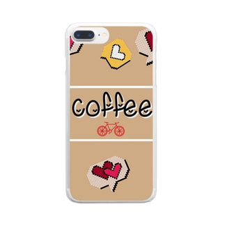 coffee クリアスマートフォンケース