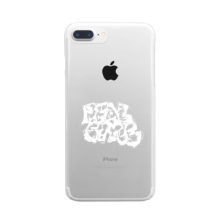 REALSTYLE 白文字 Clear smartphone cases