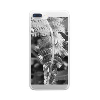 沖縄産のシダ Clear smartphone cases