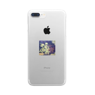 寒菊・花言葉けなげさ 真の強さ Clear smartphone cases